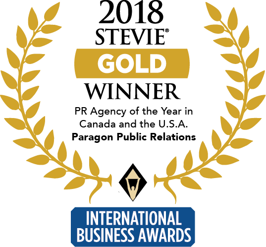 Paragon PR Gold Stevie Award
